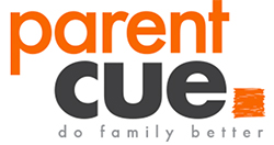Parent Cue logo. Do family better